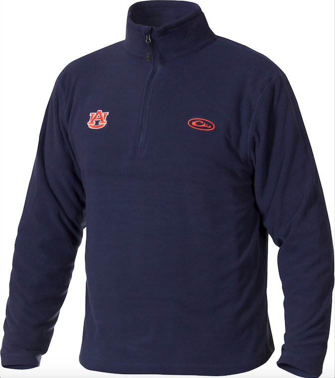 Drake Waterfowl Auburn Camp Fleece Pullover-Navy