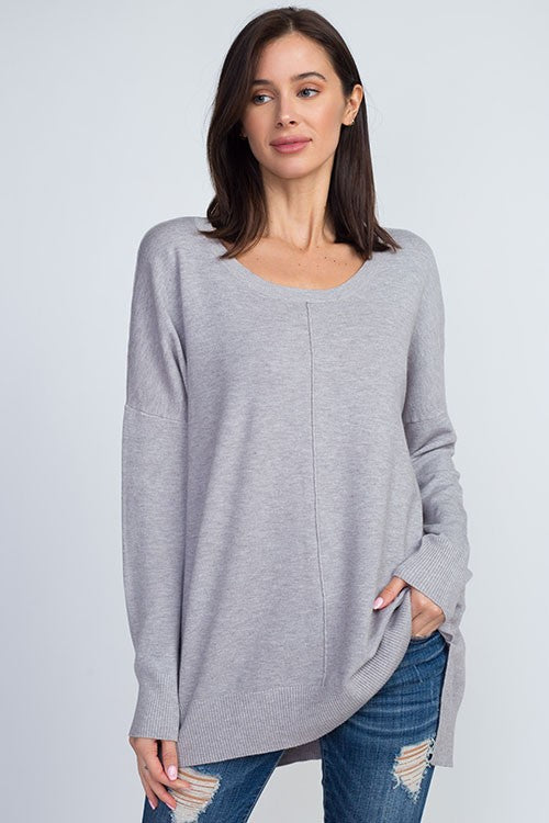 Dreamers by Debut exposed seam tunic sweater is so soft and fashionable. Shop Bennetts Clothing where you can always find the latest and greatest in womens fashions.