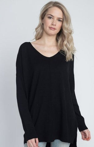 Dreamers soft V-neck sweaters with exposed seams are so chic and cozy. Shop Bennetts Clothing for the brands you want at prices you will love all shipped same day.