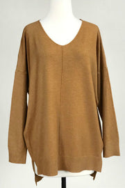 Dreamers V-neck Soft Sweater with Center Seam detail -Shop Bennetts Clothing for the styles you want from the brands you love