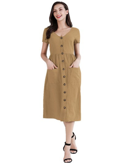 This Button Front Dress from Epretty has spot on style for your next event. Shop Bennetts Clothing for the latest in womens fashions