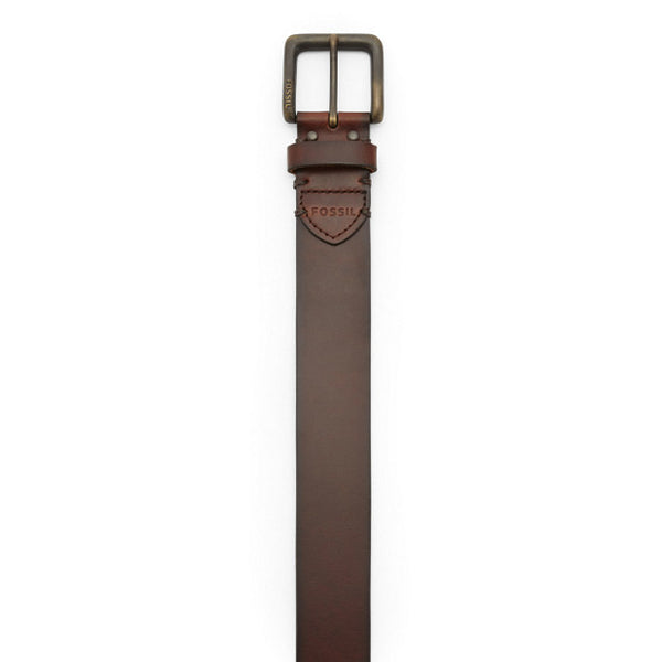 Fossil Mens Artie Belt-Dark Brown