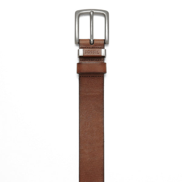 Fossil Mens Jay Belt-Brown