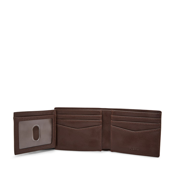Fossil Hart Bifold with Flip ID-Wine