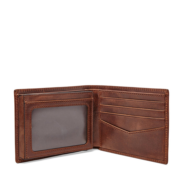 Fossil Ryan RFID Flip ID Bifold-Dark Brown