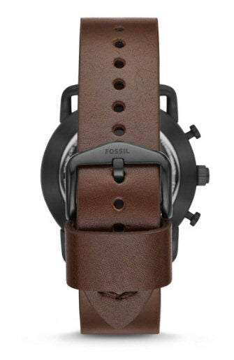 Fossil Hybrid Smartwatch-Commuter Dark Brown Leather-42mm