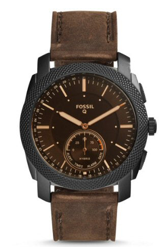 Fossil Hybrid smartwatch with brown leather strap. Shop Bennetts for the brands you want at a great price.