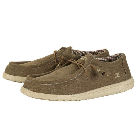 Hey Dude Wally Canvas slip-on shoe is the most comfortable mens shoe ever! Shop Bennetts Clothing for the most popular brands shipped to your door the fastest.