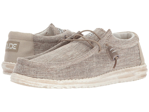 Hey Dude Wally Woven Beige slip-on shoe is the most comfortable mens shoe ever! Shop Bennetts Clothing for the most popular brands shipped to your door the fastest.