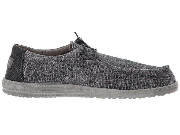 Hey Dude Wally Woven Slip-on Shoe-Carbon