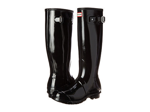 The Hunter Original Tall Gloss Rain Boot-Black - Bennett's Clothing - 1