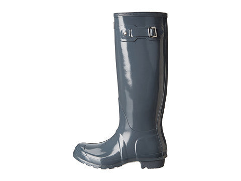 Hunter Original Tall Gloss Rain Boot-Graphite - Bennett's Clothing - 2