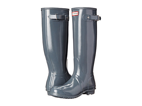 Hunter Original Tall Gloss Rain Boot-Graphite - Bennett's Clothing - 1