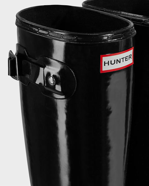 Hunter Original Tour Gloss Rain Boot-Black - Bennett's Clothing - 9