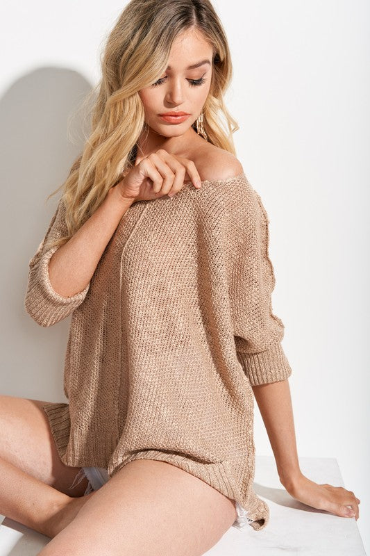 Hyped Unicorn Slouch Tunic Sweater is so cute with shorts or skinnys. Shop Bennetts Clothing for latest in name brand clothing.