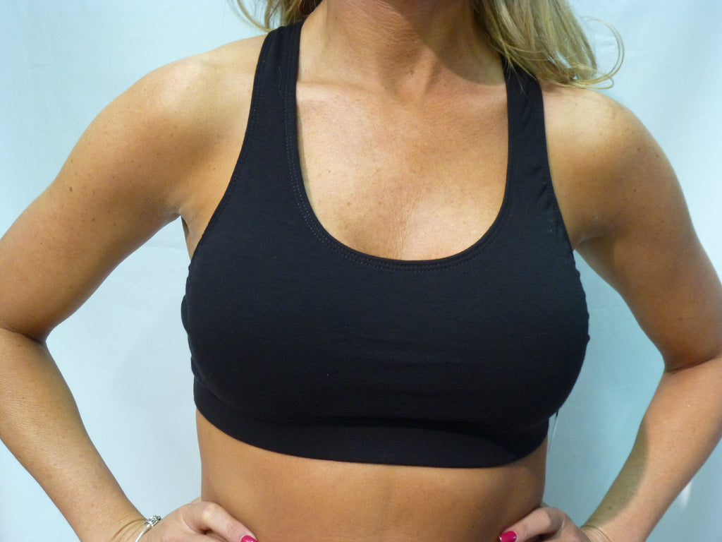 Jacques Moret Racerback Sports Bra-Black - Bennett's Clothing - 1
