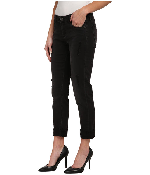 Kut from the Kloth Catherine Boyfriend Jean-Black - Bennett's Clothing - 2