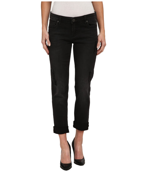 Kut from the Kloth Catherine Boyfriend Jean-Black - Bennett's Clothing - 1