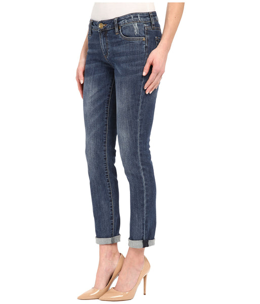 Kut from the Kloth Catherine Boyfriend Jean-Worldly wash - Bennett's Clothing - 2