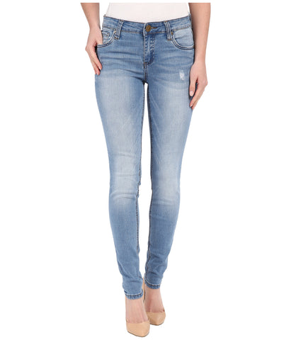 KUT from the Kloth Mia Toothpick Skinny Jean-Valuable Wash - Bennett's Clothing - 1