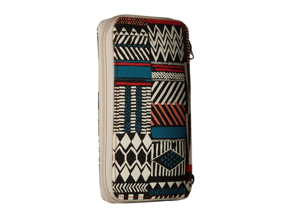 KAVU Go Time Bi-Fold Crossbody Wallet-Pattern Stack