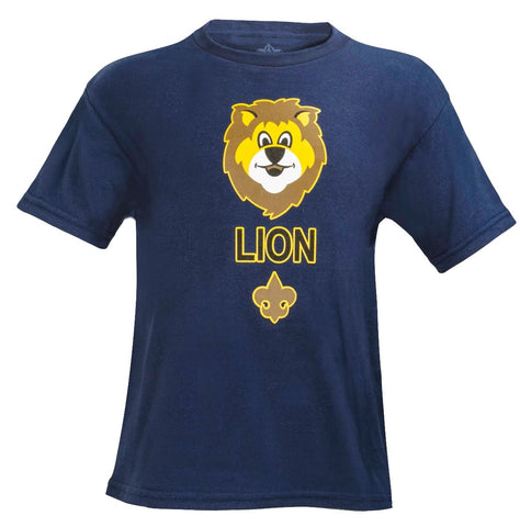 Lion Scout Youth T-shirt -Shop Bennetts Clothing for all your scouting needs. Authorized BSA Retailer for over 35 years
