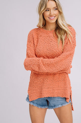 Cute and trendy Popcorn Sweater from Listicle -Shop Bennetts Clothing for the latest in womens fashion pullovers and receive same day shipping.