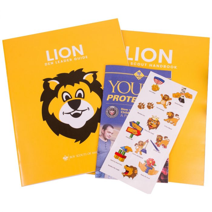 Cub Scouts Lion Scout Kit and manual- Shop Bennetts Clothing for a large selection scouting needs and get same day shipping.
