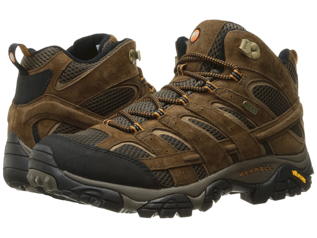 Merrell MOAB 2 Mid Waterproof Hiking boot will keep you dry and comfy wherever life carries you. Shop Bennetts Clothing for a great selection of outdoor footwear with same day shipping