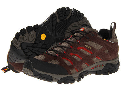 Merrell Mens Moab Waterproof Hiking Shoes-Espresso - Bennett's Clothing - 1