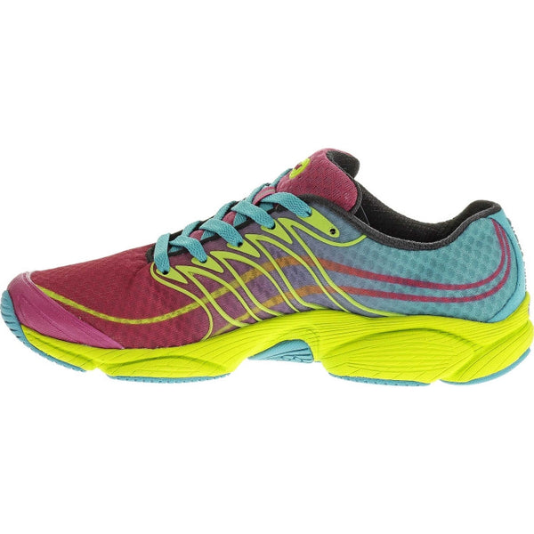 Merrell Women's All Out Flash Trail Running Shoe-Wine-Lime - Bennett's Clothing - 2