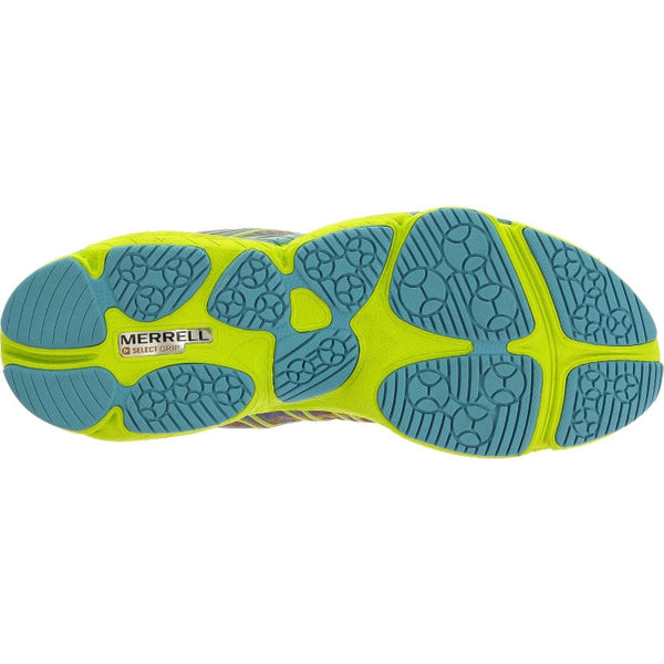Merrell Women's All Out Flash Trail Running Shoe-Wine-Lime - Bennett's Clothing - 4