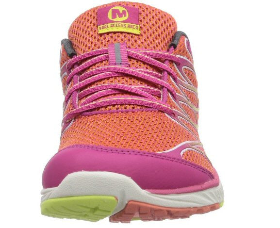 Merrell Womens Bare Access Arc 4 Trail Running Shoe-Coral-Fuchsia - Bennett's Clothing - 3