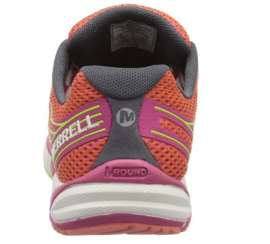 Merrell Womens Bare Access Arc 4 Trail Running Shoe-Coral-Fuchsia - Bennett's Clothing - 5