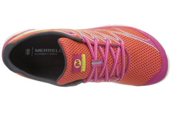 Merrell Womens Bare Access Arc 4 Trail Running Shoe-Coral-Fuchsia - Bennett's Clothing - 6