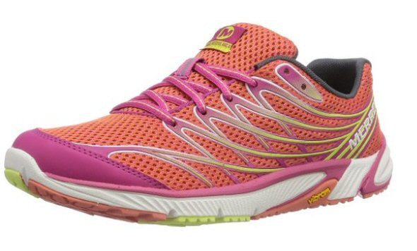 Merrell Womens Bare Access Arc 4 Trail Running Shoe-Coral-Fuchsia - Bennett's Clothing - 1