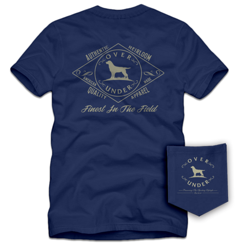 Over Under heirloom t-shirt is unique and as southern as the gentleman that wears it. Shop Bennett's Clothing for the Southern brands you love with same day shipping and top notch customer service.
