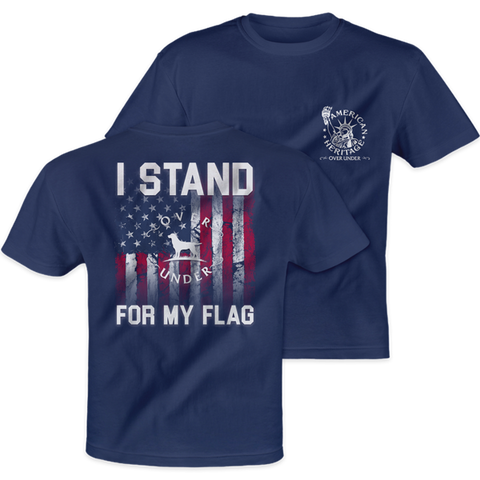 Over Under Stand for the Flag USA t-shirt shows your love for this great nation. Shop Bennett's Clothing for the Southern brands you love with same day shipping and top notch customer service.