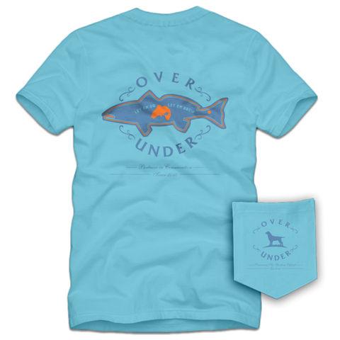 Over Under Coastal Conservation t-shirt is unique and as southern as the gentleman that wears it. Shop Bennett's Clothing for the Southern brands you love with same day shipping and top notch customer service.