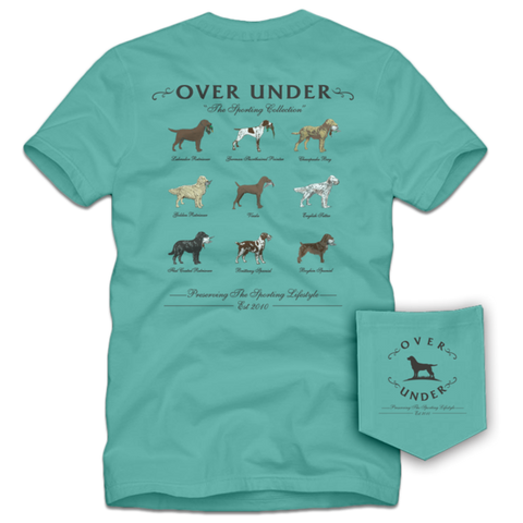 Over Under Sporting Breed t-shirt is unique and as southern as the gentleman that wears it. Shop Bennett's Clothing for the Southern brands you love with same day shipping and top notch customer service.
