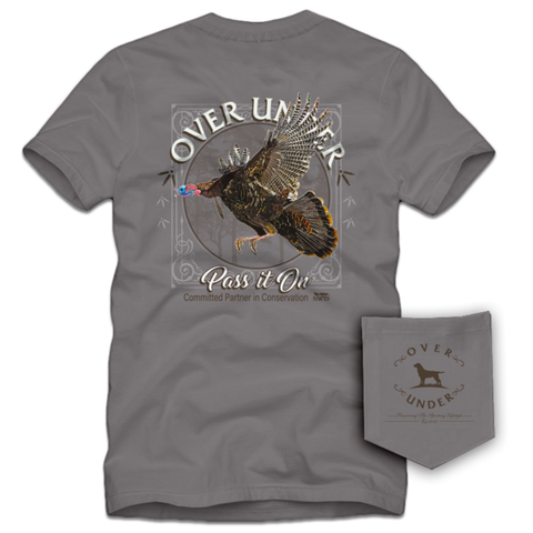 Over Under Pass It On Turkey t-shirt is unique and as southern as the gentleman that wears it. Shop Bennett's Clothing for the Southern brands you love with same day shipping and top notch customer service.