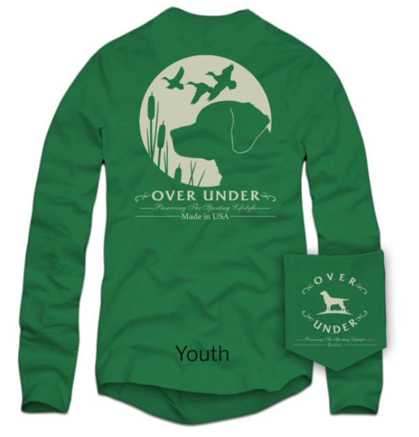 Over Under Kids Retriever's Moon Long Sleeve t-shirt -Shop Bennetts Clothing for the best names in mens outdoor clothing