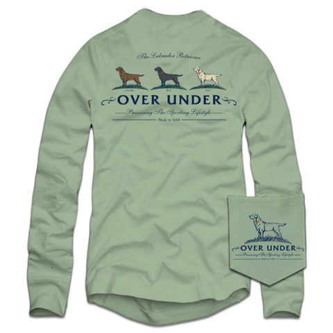Over Under Lab Trio T-shirt -Shop Bennetts Clothing for a large selection of mens name brand outdoorsman wear.