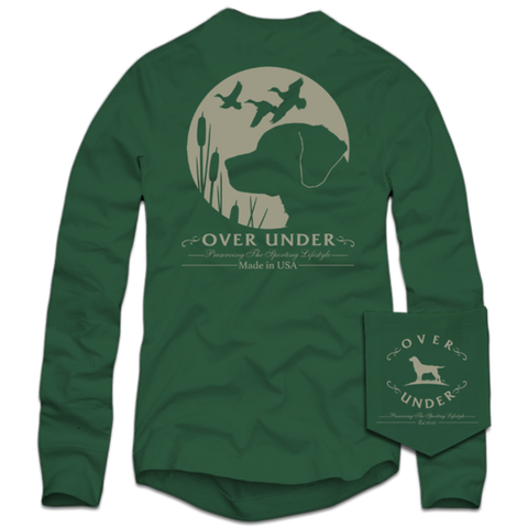 Over Under Retrievers Moon T-shirt -Shop Bennetts Clothing for a large selection of mens name brand outdoorsman wear.