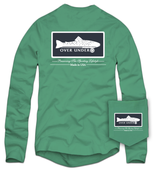 Over Under Trout on Fly Long Sleeve T-Shirt-Sweetgrass