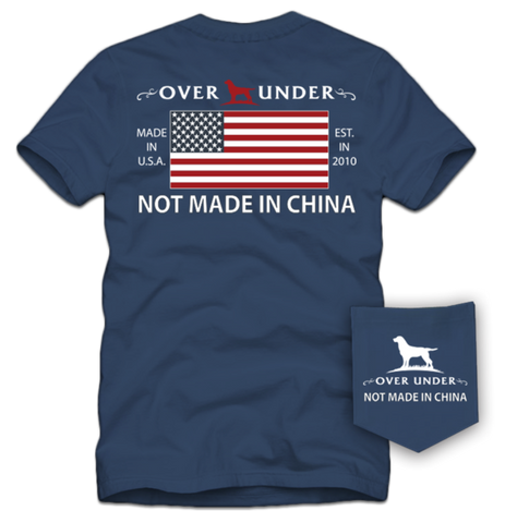 Over Under Not Made in China T-Shirt-Navy