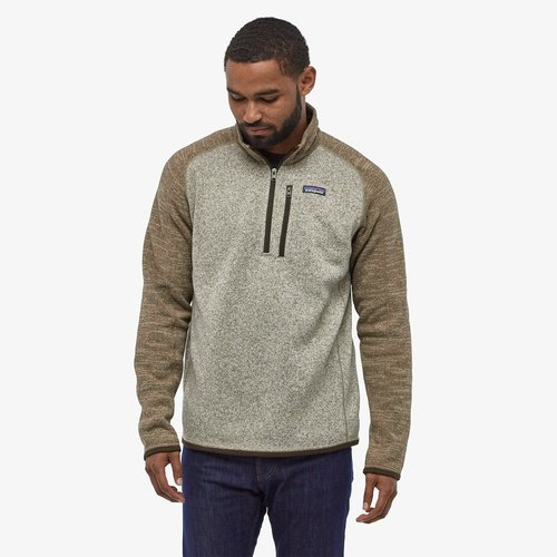 Patagonia Men's Better Sweater 1/4 Zip-Bleach Stone-Pale Khaki