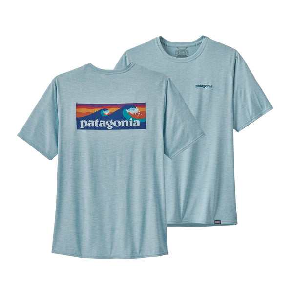 Patagonia Capilene Cool Boardshort Logo Short Sleeve Shirt-Big Sky Blue