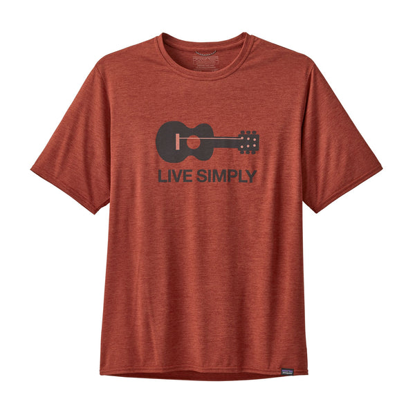 Patagonia Capilene Cool Live Simply Guitar Short Sleeve Shirt-Roots Red