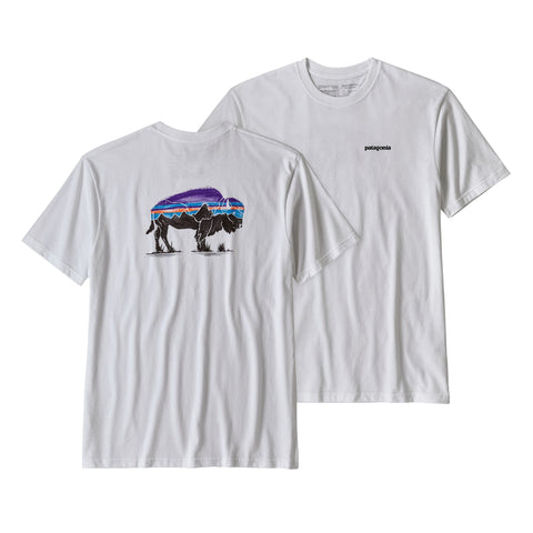 Patagonia Fitz Roy Bison Responsibili short sleeve tee is made from recycled materials. Shop Bennetts Clothing for a large selection of name brand outdoor clothing